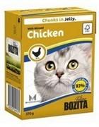 BOZITA  Кусочки в желе для кошек с рубленой курицей, Bozita in Jelly with Minced Chicken