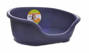 Moderna  Лежак domus пластиковый 110см, 125х80х35, королевский синий
