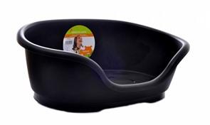 Moderna  Лежак domus пластиковый 110см, 125х80х35, черный