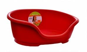 Moderna Лежак пластиковый Domus 40см, 48х32х18см, красный